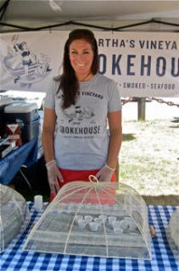 Martha's Vineyard Smokehouse at Falmouth Farmers Market in July 2016